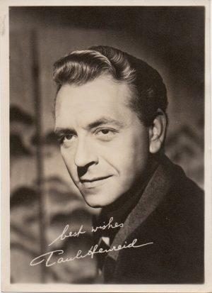 Paul Henreid 1940s Portriat (fan club)