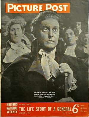 Picture post 1941 Robert Donat The Young Mr Pitt 4