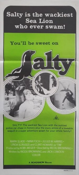 Salty the sealion 1973 daybill poster