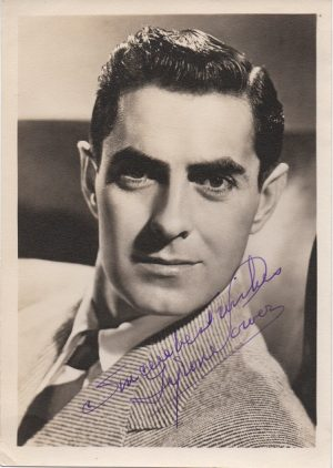 Tyrone Power 1940s signed portrait (1)