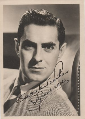 Tyrone Power 1940s signed portrait (2)