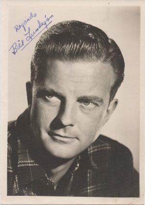 William Lundigan 1950s signed portrait