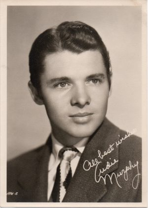 audie murphy 1940s fan club issued portrait