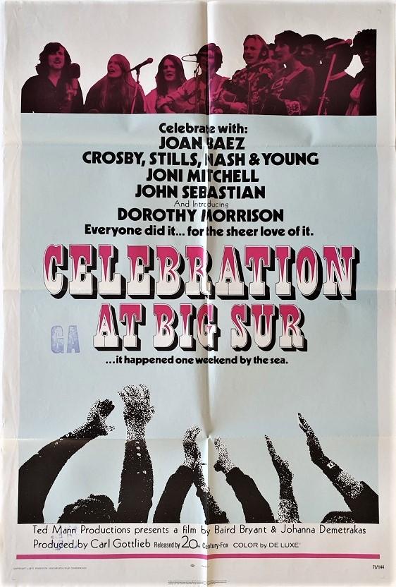 celebration at big spur us one sheet movie poster 1971 with joan baez and dorothy morrison 2