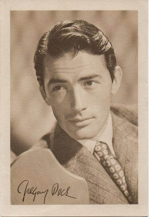 gregory peck small 1940s fan club portrait