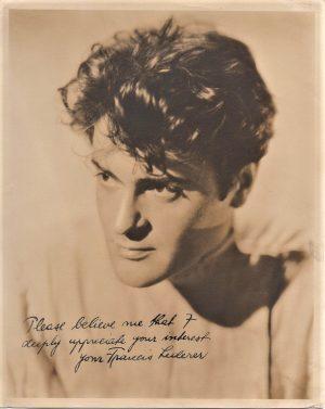 Francis Lederer 1930s signed portrait
