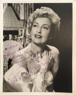 Jeanette MacDonald signed autographed portrait 1940s