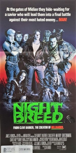 night breed australian daybill poster 1990 Clive Barker
