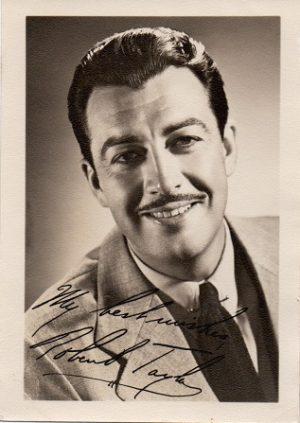 robert taylor small 1940s fan club publicity portrait