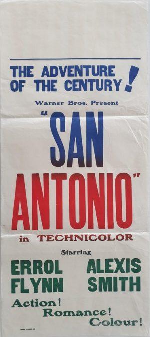 san antonio 1945 new zealand daybill poster with errol flynn