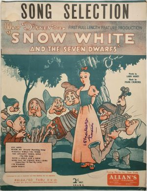 snow white and the seven dwarfs australian sheet music 1937