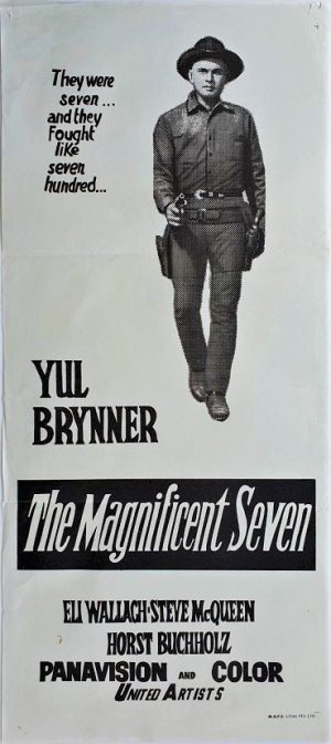 the magnificent seven australian daybill poster 1970s rerelease