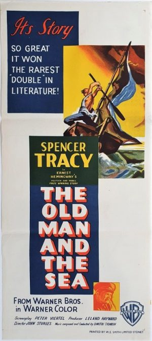 the old man and the sea australian daybill poster spencer tracy