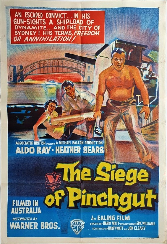 the siege at pinchgut australian one sheet poster 1959