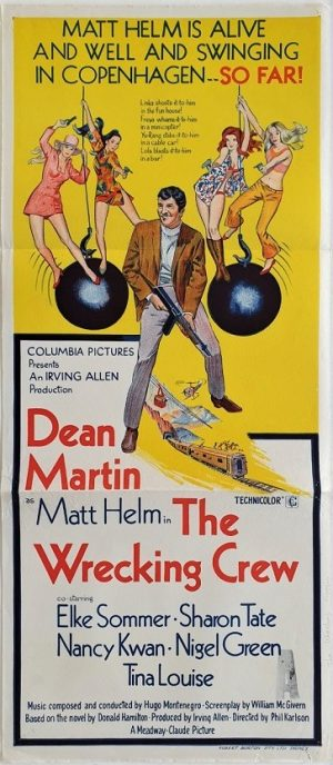 the wrecking crew australian daybill poster with dean martin 1968