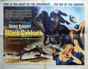 Black Sabbeth 1963 US Half Sheet Movie Poster with Boris Karloff