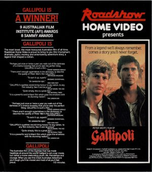Gallipoli 1981 Australian video flyer with Mel Gibson (1)