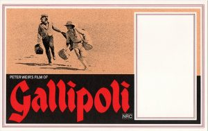 Gallipoli 1981 Australian window card with Mel Gibson