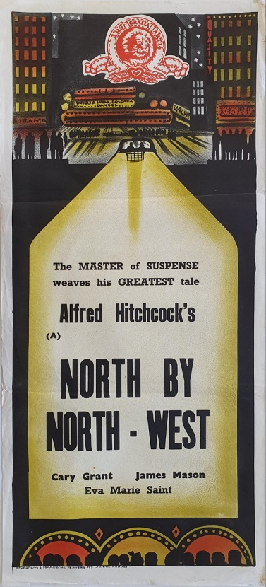 North By Northwest australian daybill poster Afred Hitchcock classic with Gary Cooper and James Mason