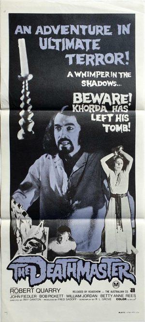 The Deathmaster australian daybill poster 1972