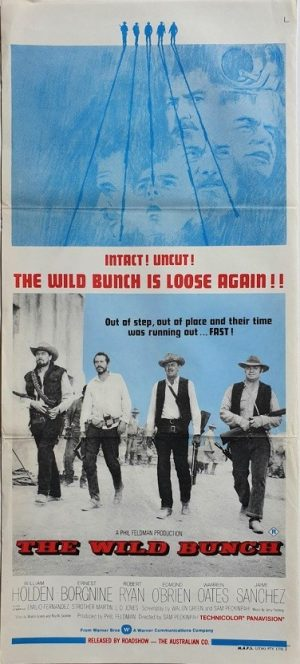 The Wild Bunch australian rerelease daybill poster