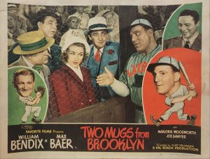 Two Mugs From Brooklyn 1949 US Lobby Card also known as Two Knights From Brooklyn with William Bendix, card number 2