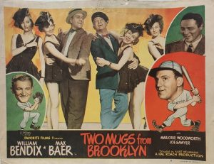 Two Mugs From Brooklyn 1949 US Lobby Card also known as Two Knights From Brooklyn with William Bendix, card number 8