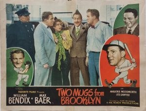 Two Mugs From Brooklyn 1949 US Lobby Card also known as Two Knights From Brooklyn with William Bendix, card number 7