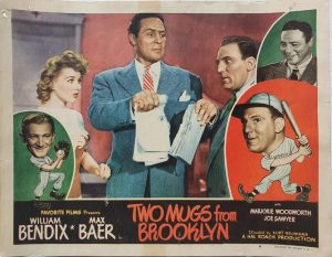 Two Mugs From Brooklyn 1949 US Lobby Card also known as Two Knights From Brooklyn with William Bendix, card number 4