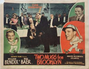 Two Mugs From Brooklyn 1949 US Lobby Card also known as Two Knights From Brooklyn with William Bendix, card number 6