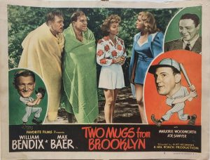 Two Mugs From Brooklyn 1949 US Lobby Card also known as Two Knights From Brooklyn with William Bendix, card number 5