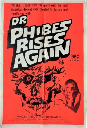 dr phibes rises again australian one sheet poster with Vincent Price 1972