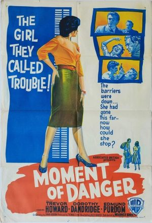 moment of danger australian one sheet poster 1960 with trevor howard and dorothy dandridge also known as malaga