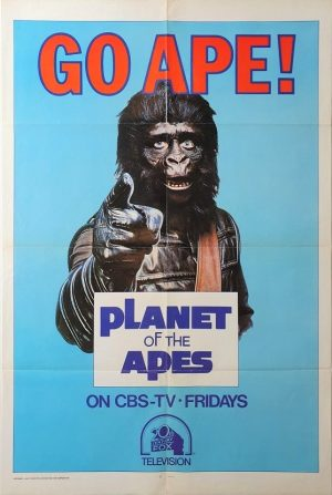 Planet of the apes Go Ape! 1974 CBS TV one sheet poster