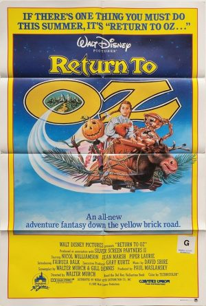 return to oz us one sheet poster 1985