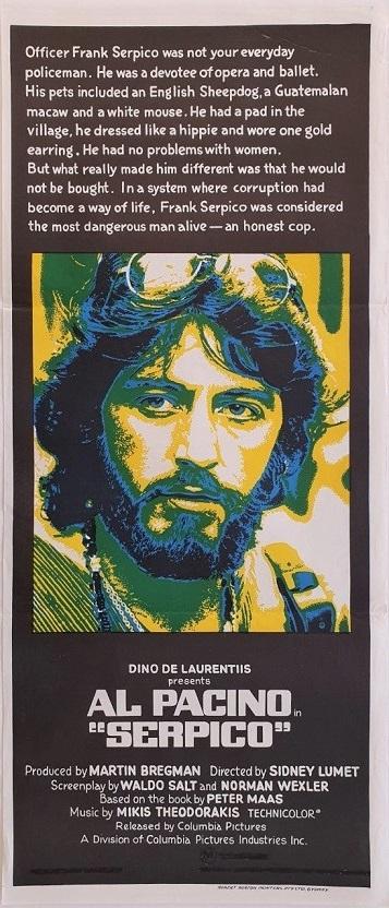 serpico australian daybill poster with al pacino 1973