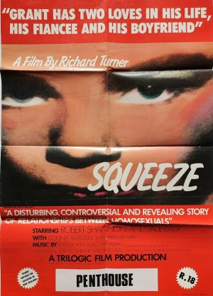 squeeze new zealand one sheet poster 1980 gay documentary very rare!