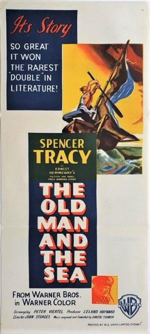 the old man and the sea australian daybill poster spencer tracy 2