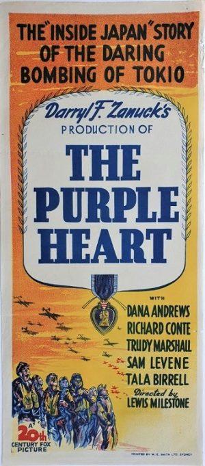 the puple heart 1944 australian daybill poster very rare (1)