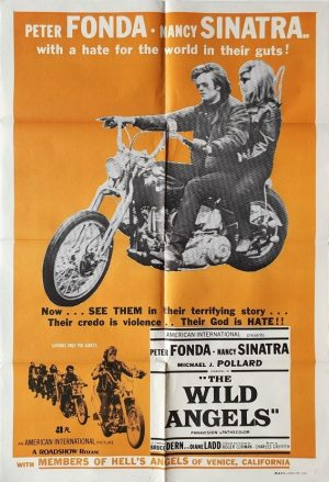 the wild angels australian one sheet movie poster with Peter Fonda and Nancy Sinatra