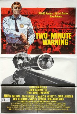 two minute warning uk one sheet with charlton heston 1976
