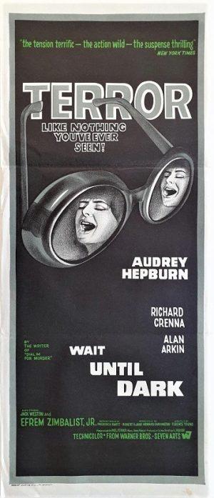 wait until dark australian daybill poster with Audrey Hepburn 1967