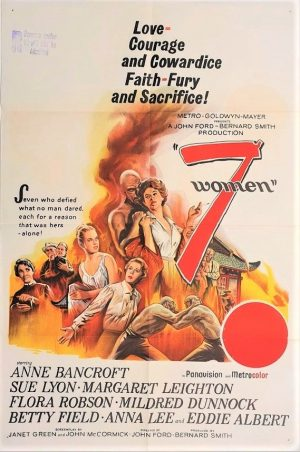 7 women australian movie poster 1966