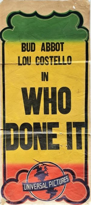 Abbot and Costello in Who Done It Daybill poster 1940's