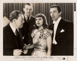 Charlie Chan At Treasure Island 1939 US Still with Sidney Toler and Cesar Romero