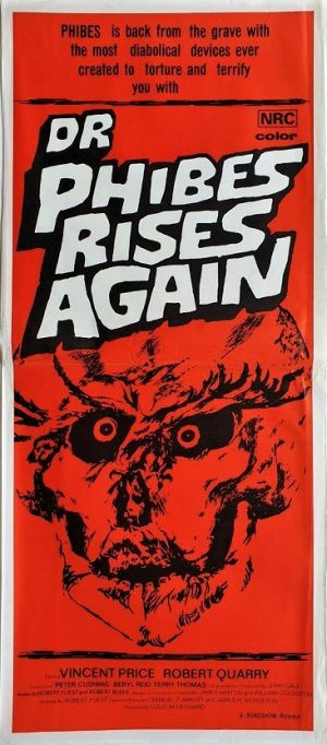 Dr Phibes rises again australian daybill poster with Vincent Price 1972