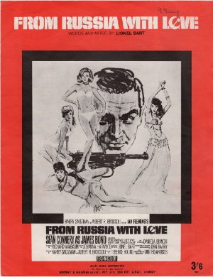 From russia with love 1963 sheet music Australian and New Zealand 007 James Bond (1)