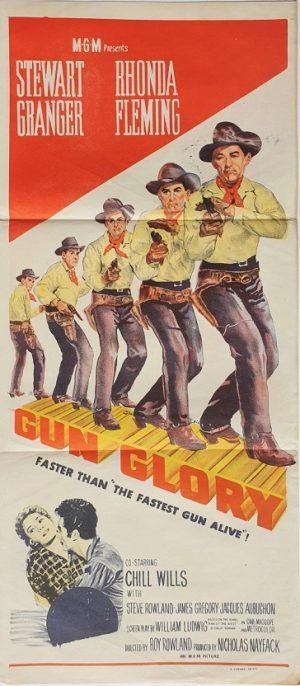Gun Glory daybill poster with Stewart Granger (2)