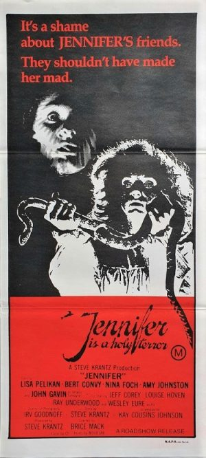 Jennifer is a holy terror australian daybill poster 1978