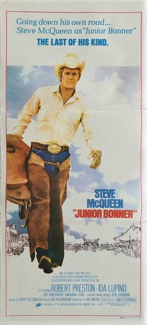Junior Bonner australian daybill poster with Steve McQueen 1972